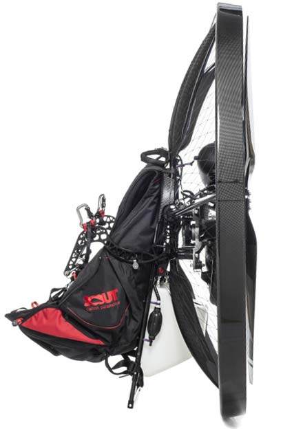 scout-carbon-paramotor-complete-studio-harness-goosneck-bar-side-view-enduro-stand-high-key660-web-optimized