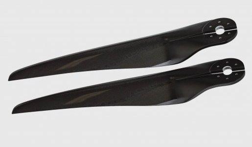 propeller back paralel angled grey background
